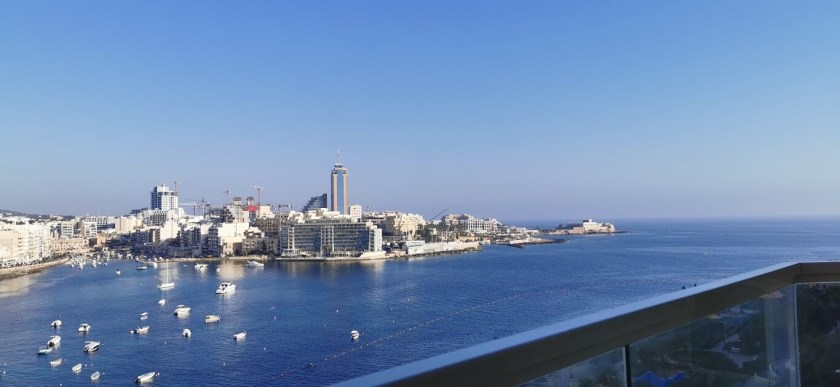The view from Bo's condo in Malta.