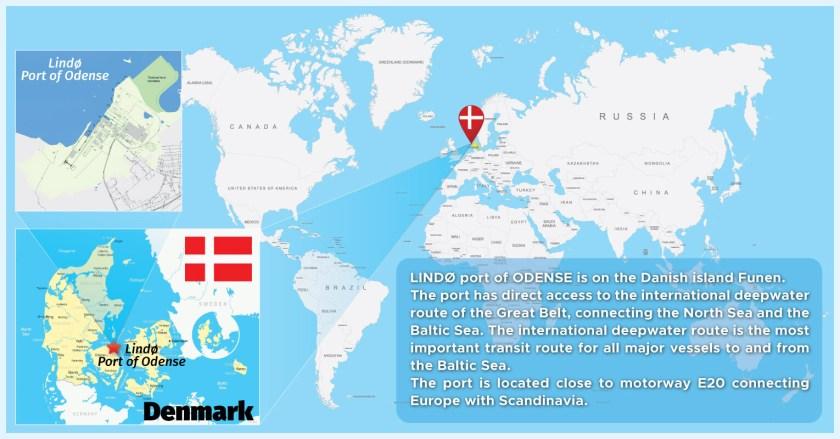 Map of Port of Odense Denmark