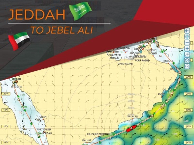 Jeddah to Jebel Ali