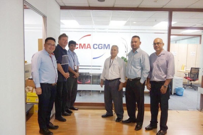 Meeting at Westport Kelang office with Mr. Dennis Tan (of Tera Projects), Bo Drewsen, Mr. Kumar Manager of PKL office of CMA CGM and his colleagues.