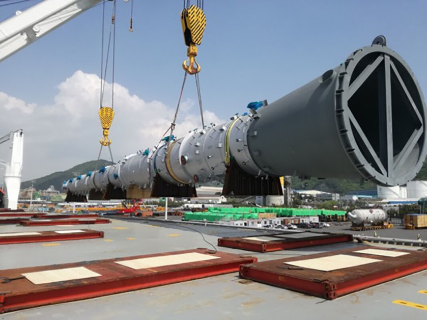 Hansa Heavy Lift Transports Equipment For Major New Petrochemicals Production Complex In Russia