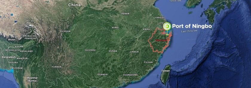 Ningbo-Port-Location-Map