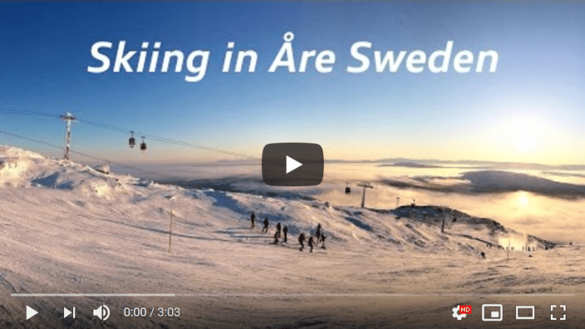 Skiing in Are Sweden