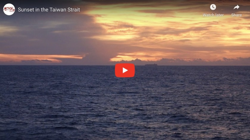 Video: Sunset in the Taiwan Strait