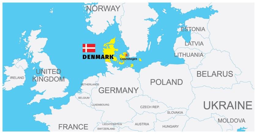 Denmark-Copenhagen Map