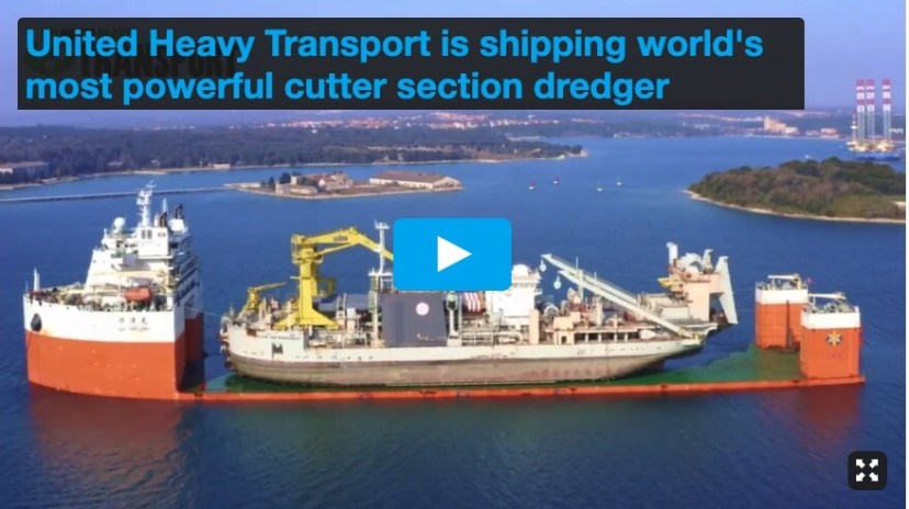 United Heavy Transport is Shipping World's Most Powerful Cutter Suction Dredger