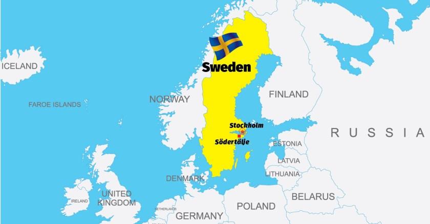 Sweden-Södertälje-Map