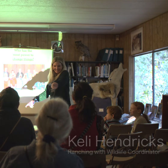 Keli Hendricks presents to children and parents as part of our youth education, Keeping It Wild program.