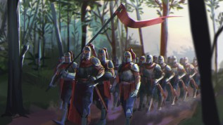Concept art: Knights venture into the woods
