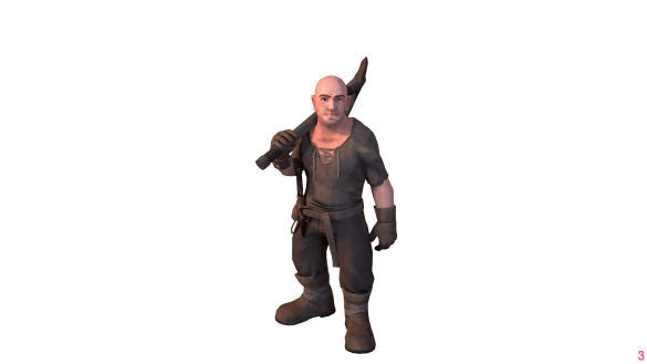 3D render of a dwarf