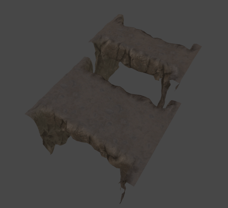 3D renders of stone bridge pieces