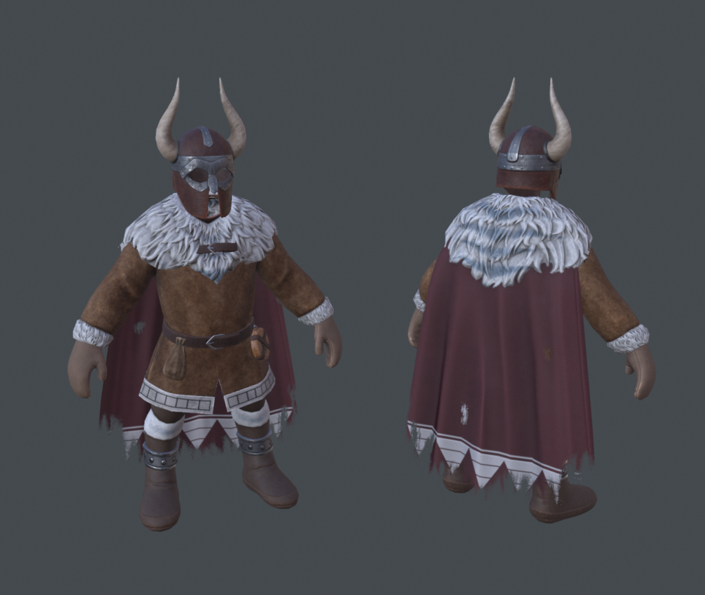 3D textured model of a Frost Dwarf Guard from Depths of Erendorn