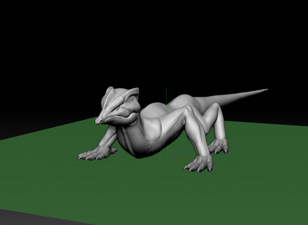 Basic blockout of a Lizard in ZBrush