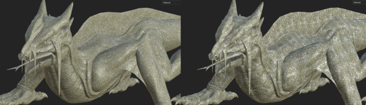 Testing tiling texture on a Swamp Lizard in ZBrush