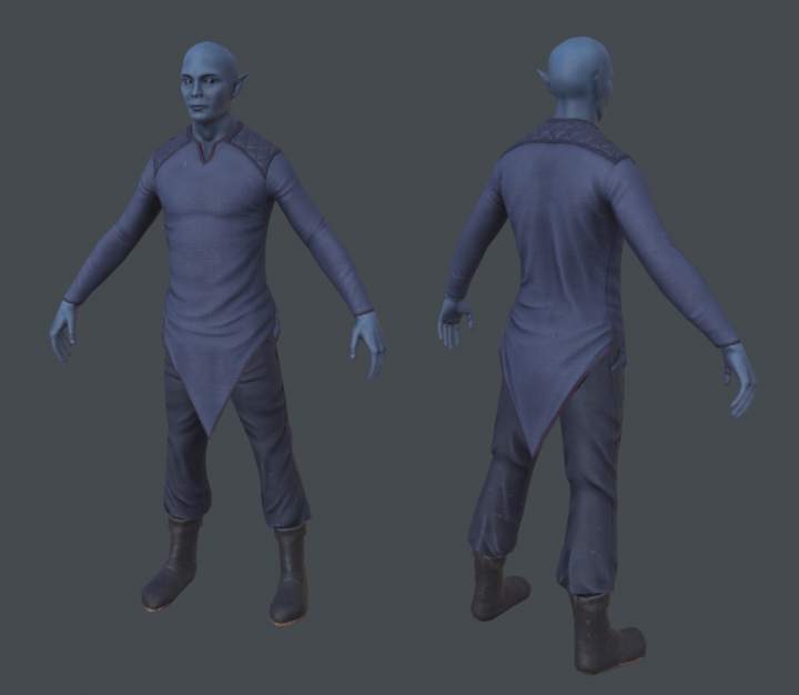 3D model of Twilight Elf Civilian from Depths of Erendorn