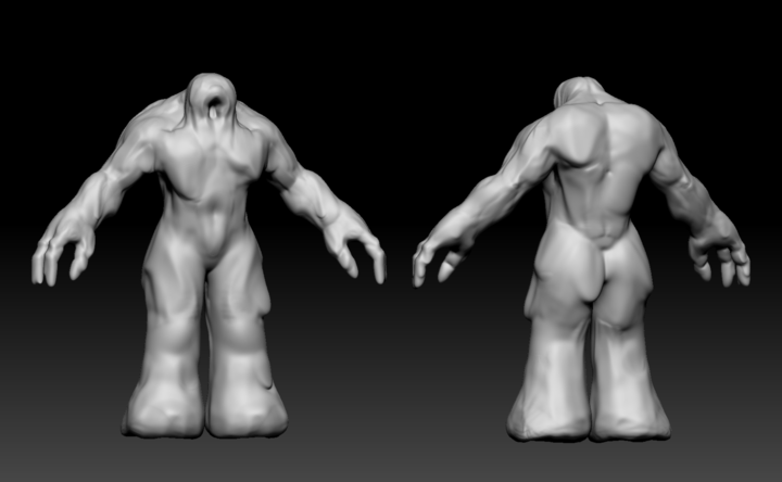 ZBrush sculpt of a shapeshifting sand creature