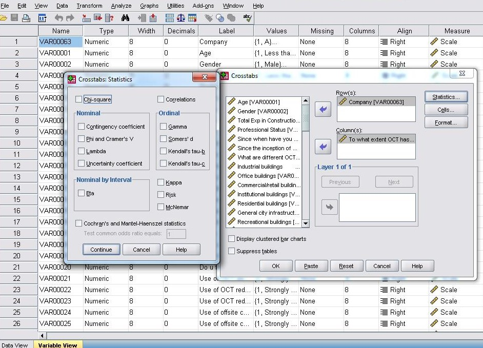 Cross tabulation in SPSS | Knowledge Tank