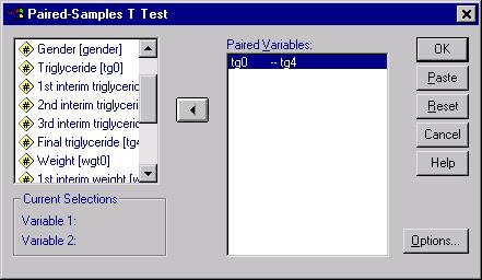 Sample T-test analysis,  Figure 2