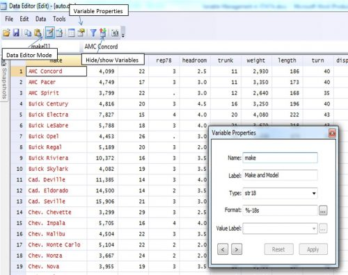 one can add data using the data editor ( edit) option