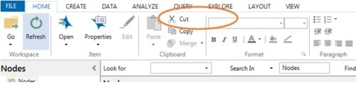 Home icons for Merging Nodes in Nvivo