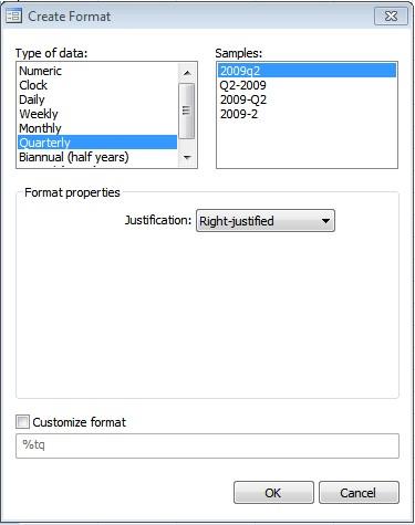 Figure 15: 'Date' format of 'Data Editor' window