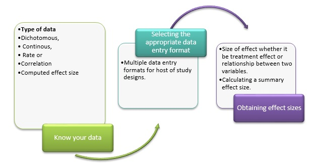 Figure 1: Steps leading to meta-analysis