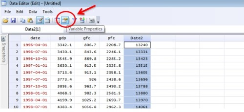 Figure 9: 'Variable Manager' of Data Editor
