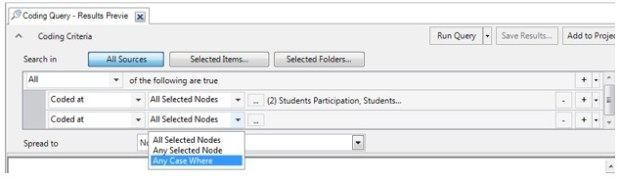 Figure 6: Select drop down option for 'Attribute'