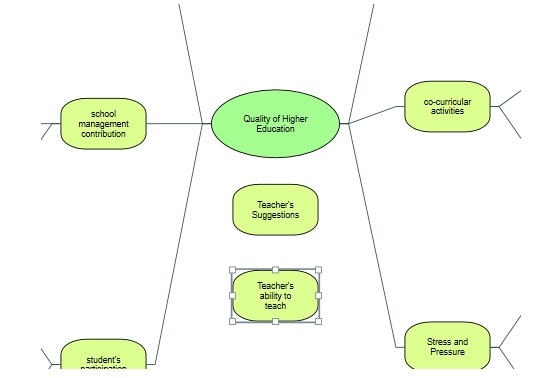 Figure 7: Floating ideas in mind mapping in Nvivo