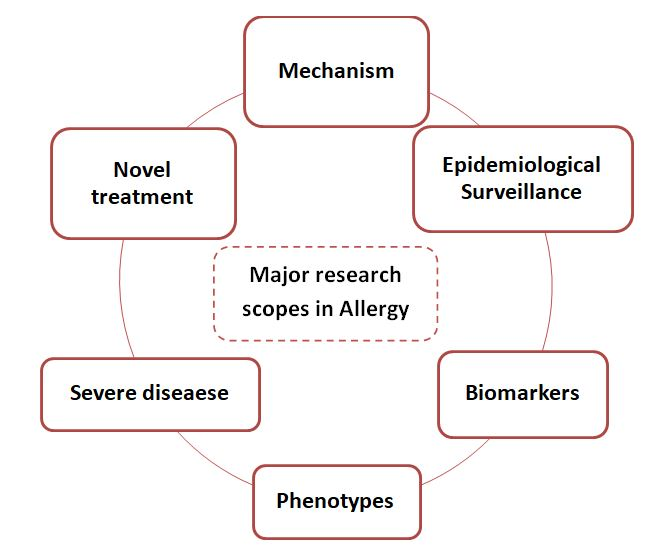 The major research areas for the allergy drug development that motivate research capabilities (Papadopoulos et al., 2012)