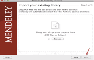 importing files for Mendeley from the existing library