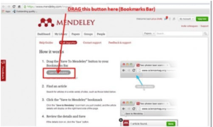 mendeley in the brower bookmark helps to import files easily