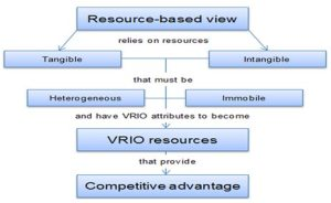 Role of resource based view (source : Akio 2005)