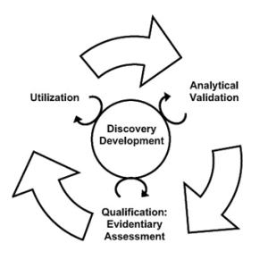 Biomarker benchmarking process (McShane, 2017)