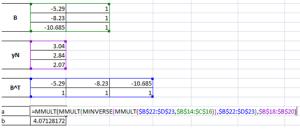 Calculating data matrix