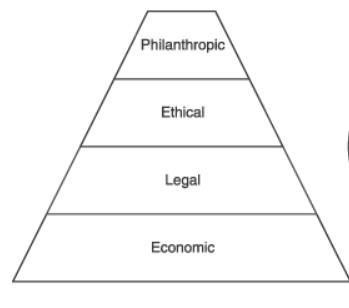 Carroll's pyramid CSR model
