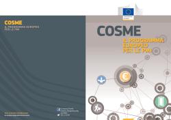 COSME - programma europeo per le PMI