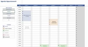 Agenda Appuntamenti Excel