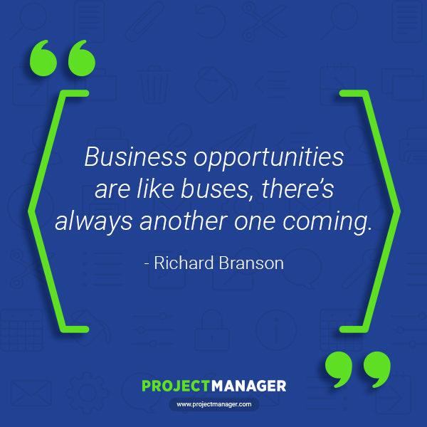 Cita de negocios de Richard Branson