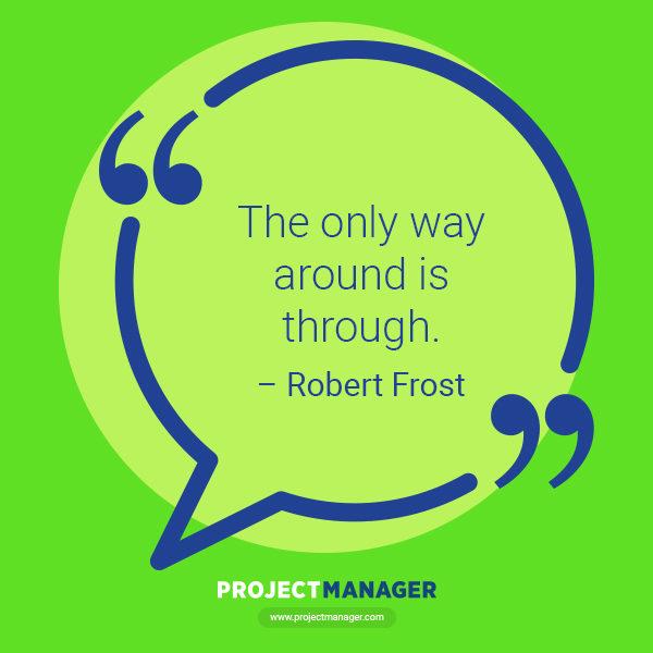 Cita de Robert Frost Business