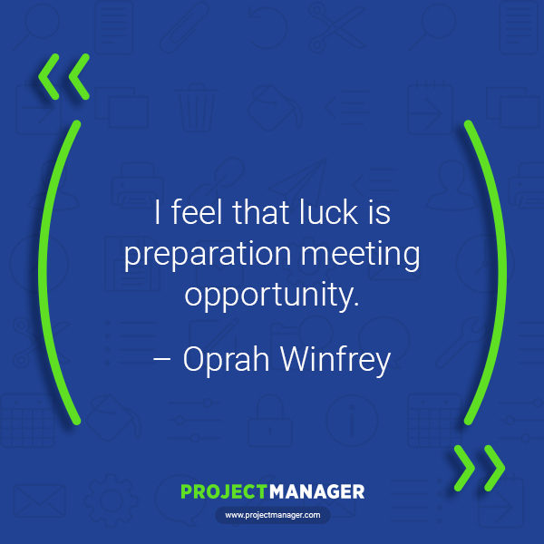 Cita de negocios de Oprah Winfrey