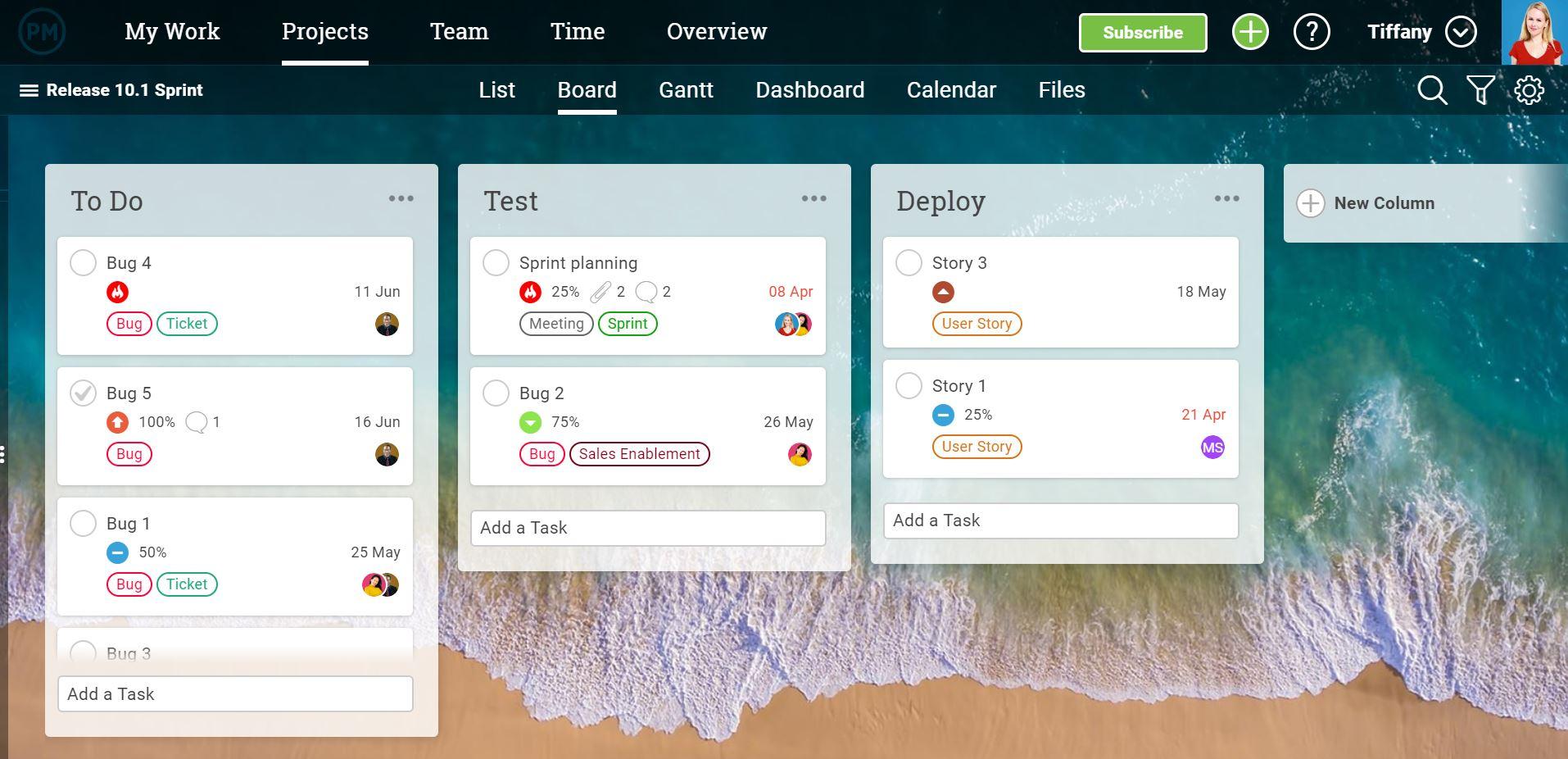 Los tableros kanban visualizan el flujo de trabajo de su equipo