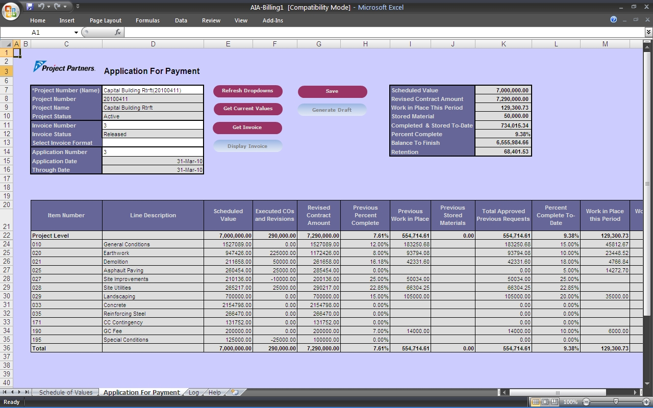 Aia Compliant Progress Billing Software For Oracle E