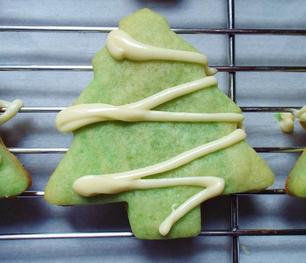 White Chocolate And Creme De Menthe Shortbread