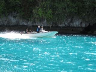 boating in palau
