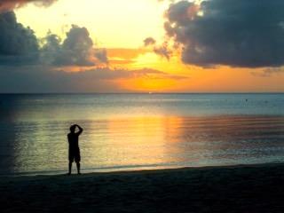 sunset in palau with bentprop