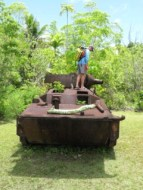 wwII ltv's on land in Palau