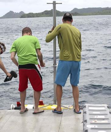 """deploying the """"fish"""" sonar"""