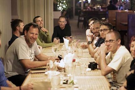 celebrating the tbm avenger find with dinner