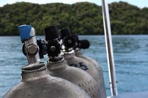 dive tanks ready to go